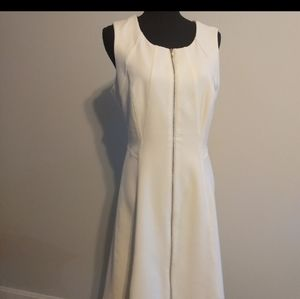White House Black Market White Dress Size 12